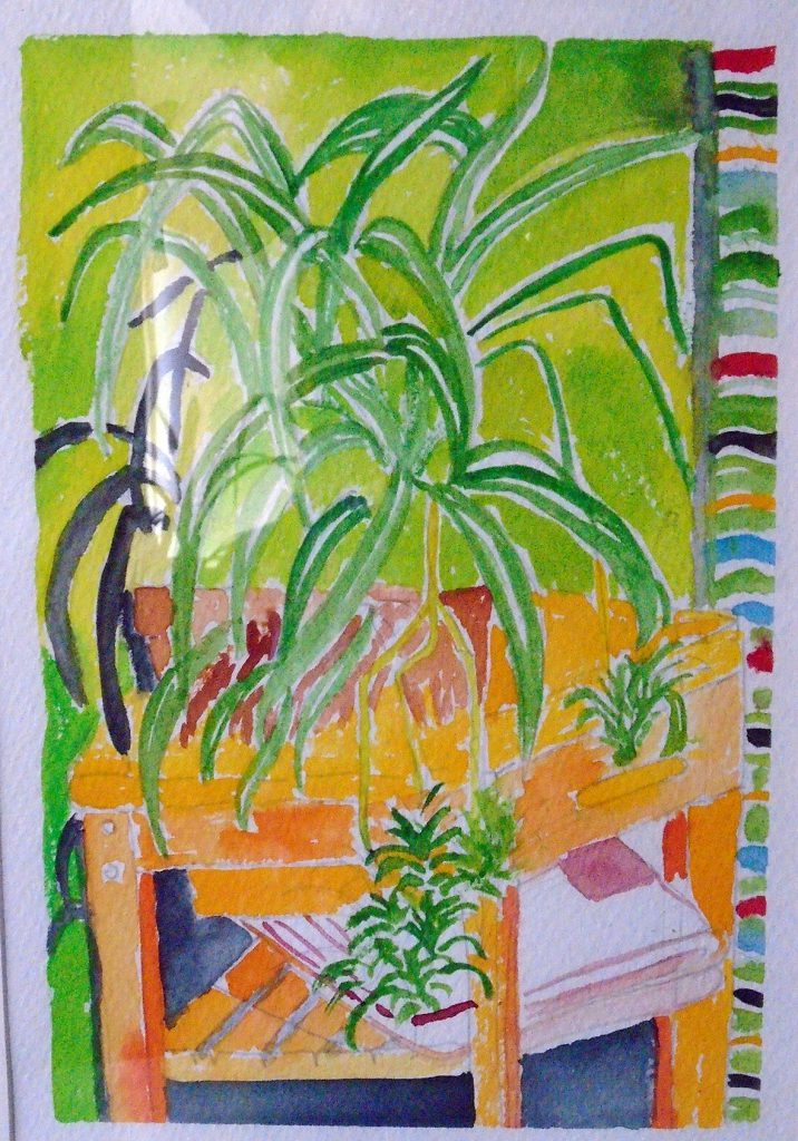 Plant 2 watercolour 30x40 £85