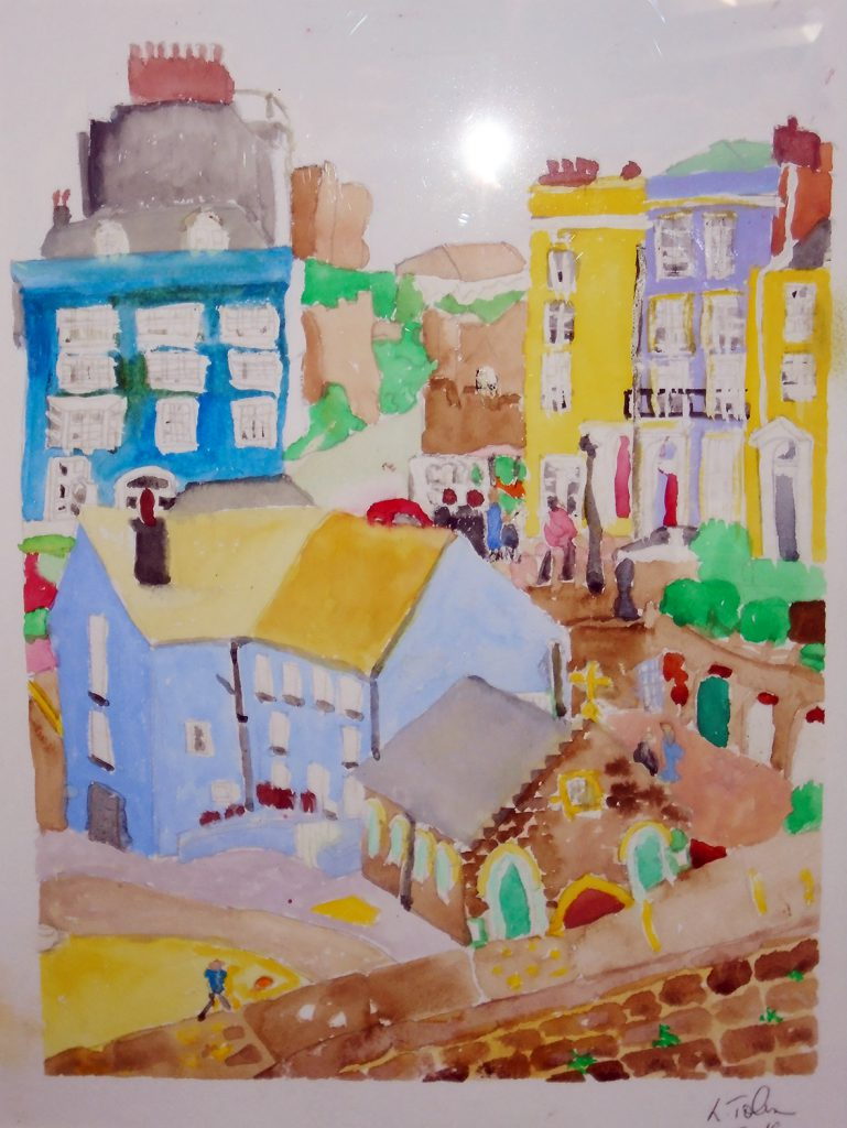 Tenby Harbour Watercolour 54x44 £135