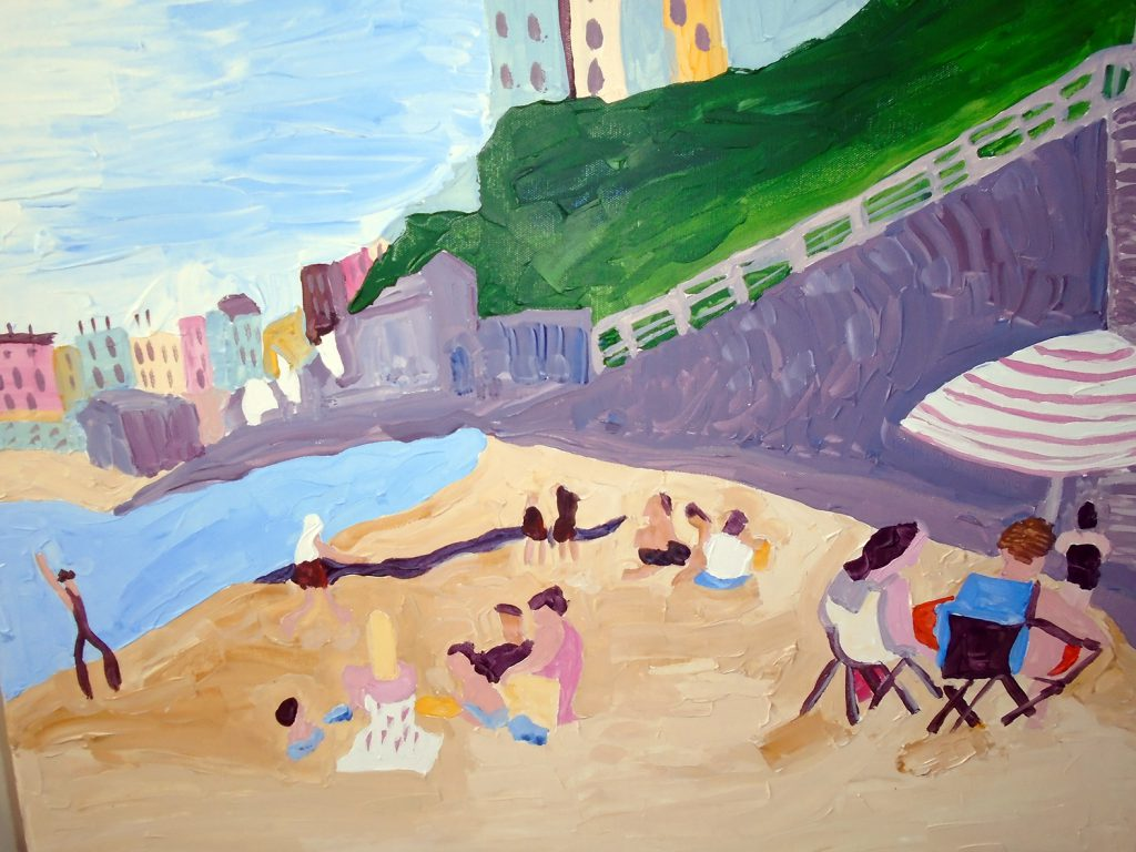 Tenby beach Acrylic on canvas 76 x 61 £370