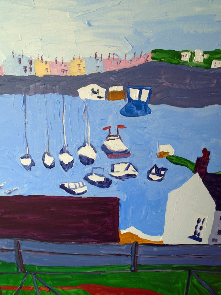 View of Tenby Harbour Acrylic on canvas 76x61 £370