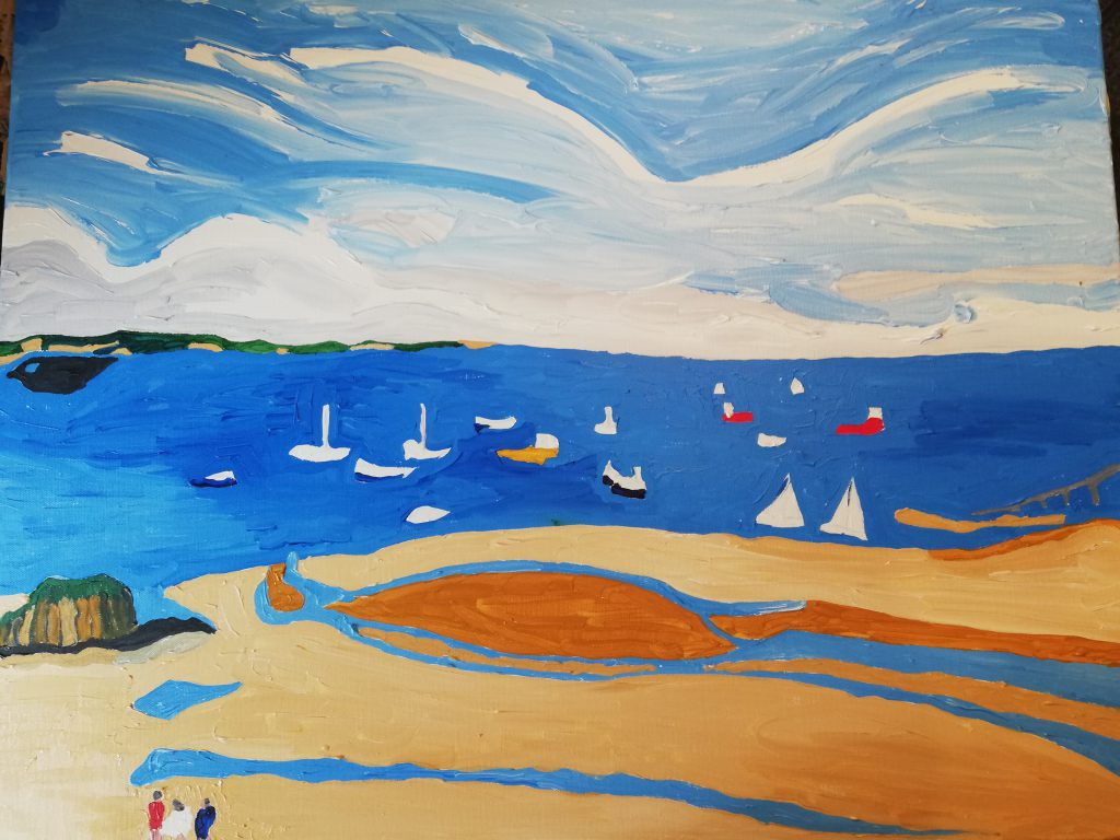North Beach, Tenby. Acrylic on canvas 76cm x 61cm £370