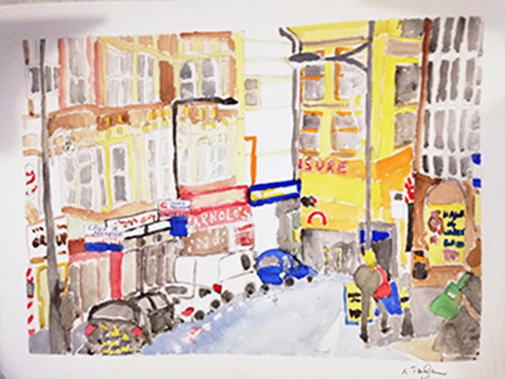 Street scene Newport Print 36x28cm £25