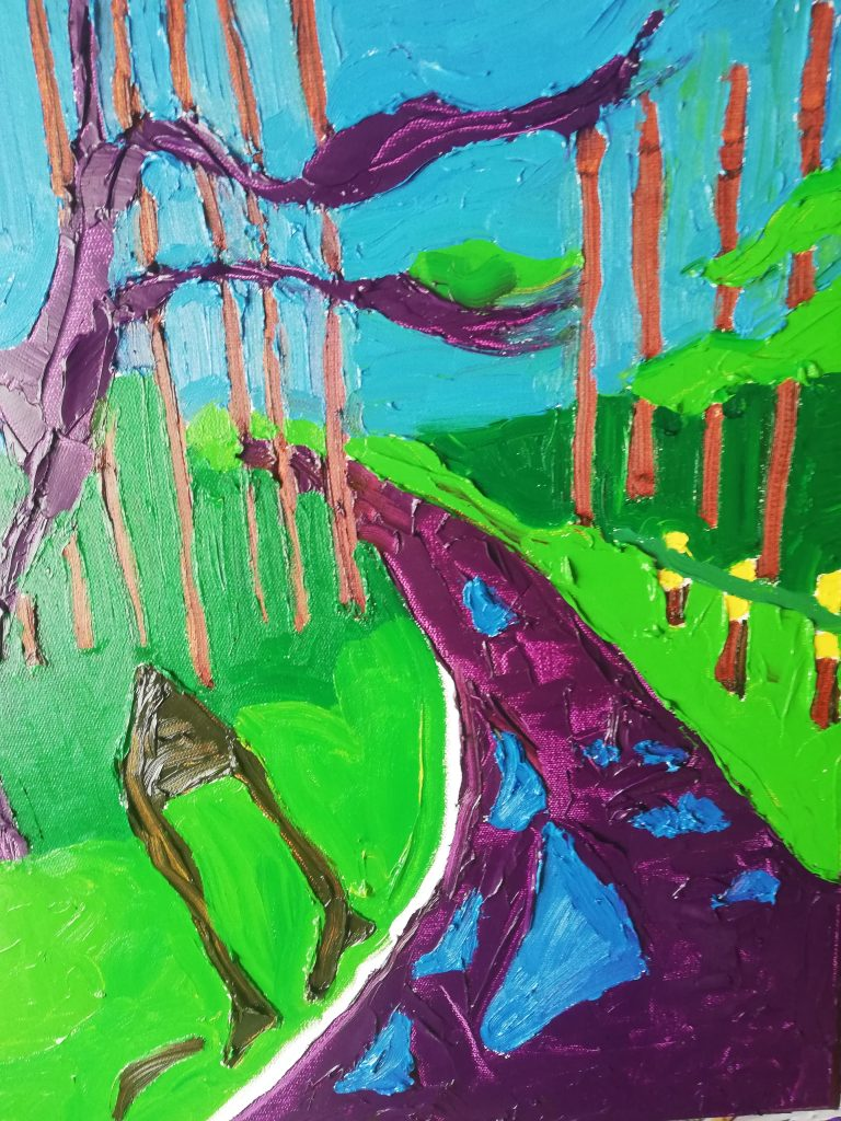Spring Trees II Oil on canvas 41cmx50cm £300